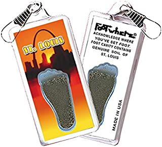 "product image for St. Louis""FootWhere"" Souvenir Zipper-Pull. Made in USA (StL301 - Arch@Dawn)"