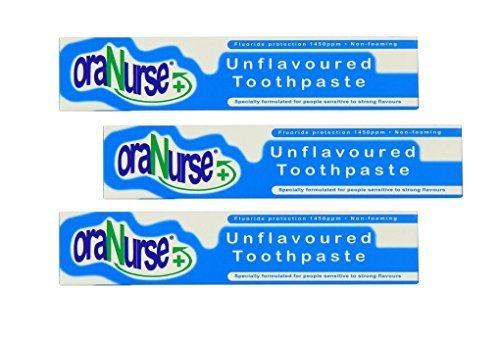 3 Pack Oranurse 50ml Unflavoured Toothpaste by Oranurse