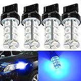 7440 led bulb blue - KATUR Blue 7440 7440NA 7441 992 Base 18 SMD 5050 LED Replacement for Car Incandescence Bulb Interior RV Camper Turn Tail Signal Brake Backup Lamp Parking Side Marker Lights 360 Lumens DC 12V 4-Pack
