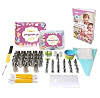 YG STEEL one 81 Piece Cake Icing and Decorating Supplies Kit Stainless Steel, Different Types, Free Bonus- EBook