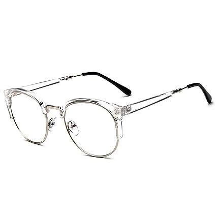 66c1043ef3 Forepin® Unisex Montura de Gafas Vintage para Hombre y Mujer Retro  Transparente con 1/