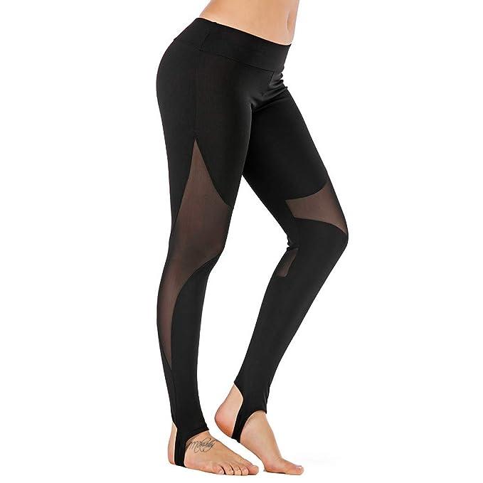 RISTHY Leggins Mujer Deporte Deportivos Fitness Negros Running Yoga Pantalones Mallas Elásticos Ajustados Pantalones de Gimnasio para Mujeres