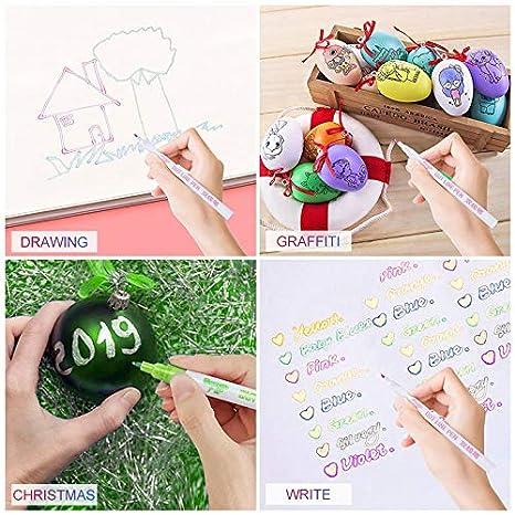 Contorno de línea doble pluma para tarjeta de regalo escribir Dibujar Arte Creativo marcador 8 línea