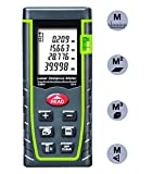 Arama Digital Laser Distance Meter 40m Measure tool Range Finder with Large Backlit LCD 4 Line Display, Bubble Level, Self Calibration Rangefinder (LDM-T40 40m 131ft)