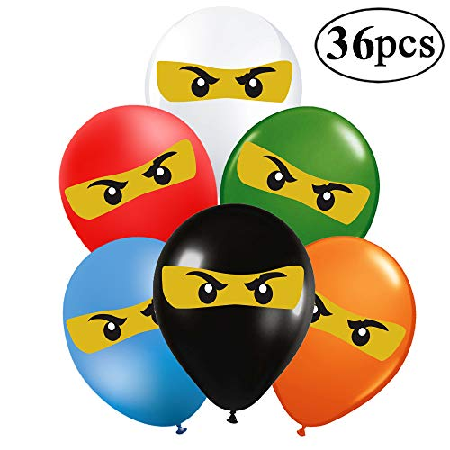 36Ct Ninjago Balloons - 12 Kids Ninjago Birthday Party Supplies Balloons Decorations