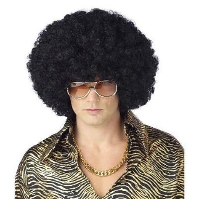 Black Super Afro Wig adult size fro Chick Magnet