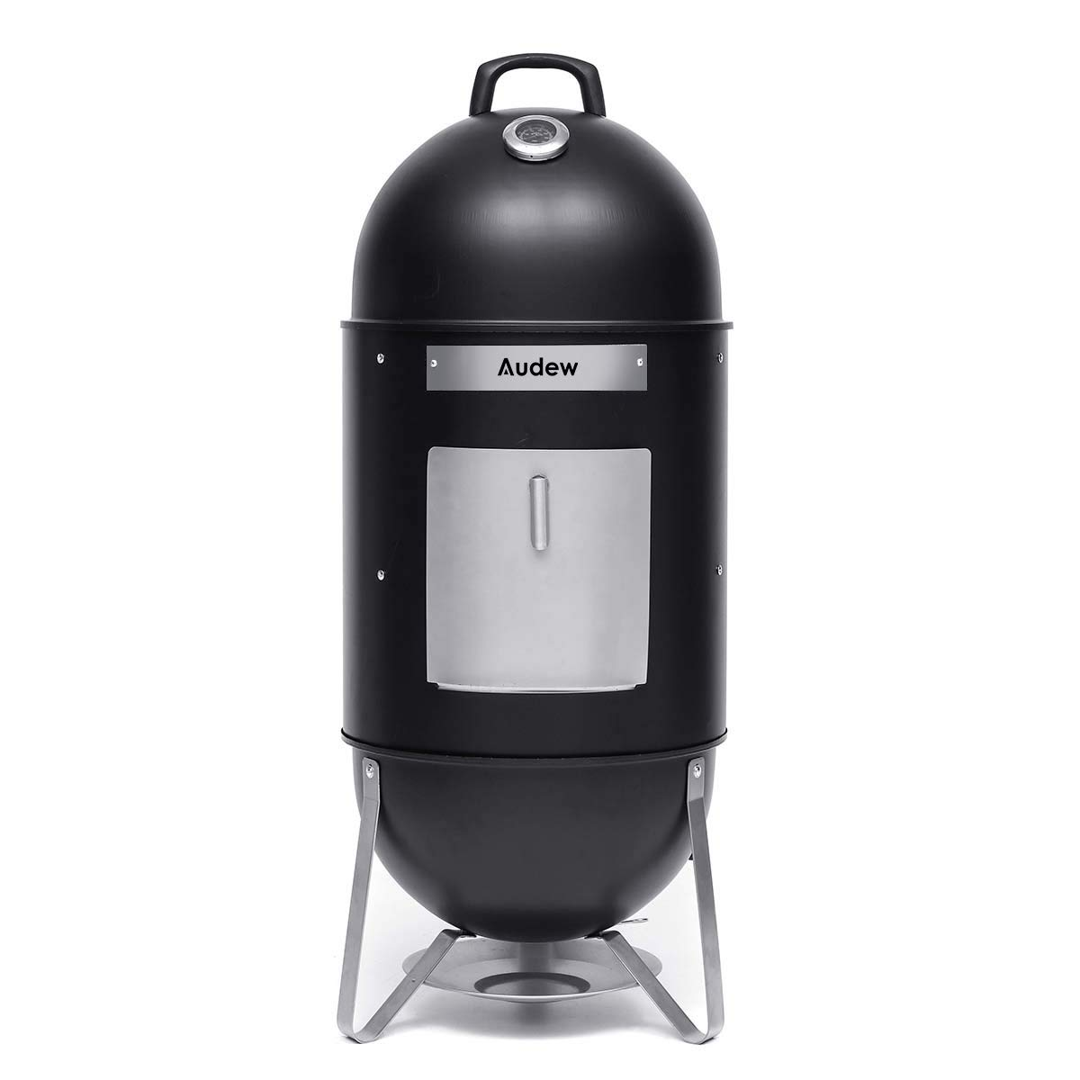 Audew Charcoal Smoker Grill 18-Inch Vertical Combo Water Grill BBQ Heat Control Outdoor Picnic Camping by Audew