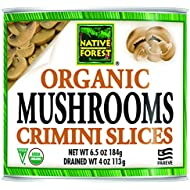 Native Forest Organic Sliced Crimini Mushrooms, 4 Ounce Cans (Pack of 12)