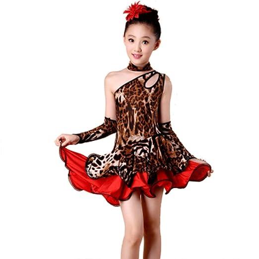 Trajes de Baile Latino - Vestido de Competencia con Falda con ...