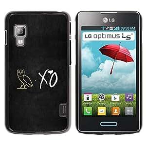 Paccase / SLIM PC / Aliminium Casa Carcasa Funda Case Cover para - XO Night Owl - LG Optimus L5 II Dual E455 E460