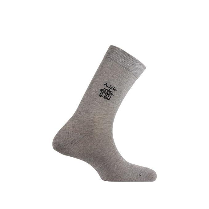 Logo Achile Calcetines de hilo de Escocia negro