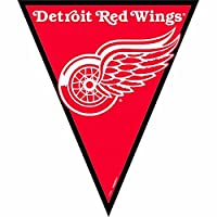 NHL Licensed Detroit Red Wings Pennant Banner Party Decoration, Plastic , 12'