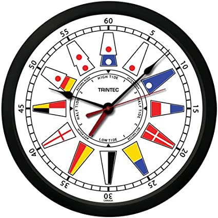 "TRINTEC  14/"" ATLANTIC NAUTICAL FLAG TIME AND TIDE CLOCKS AND TIDE INDICATORS"