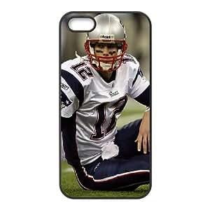 Tom Brady American Football Athlete Field Helmet 25994 funda iPhone 4 4S caja funda del teléfono celular del teléfono celular negro cubierta de la caja funda EOKXLKNBC14128