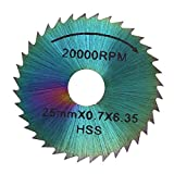 Circular Saw Blade, Asixx HSS Circular Saw Blades Cutting Disc Power Tools for Electric Mill, Woodworking, Plastic Cutting, Iron Plate Cutting, etc(25mm)