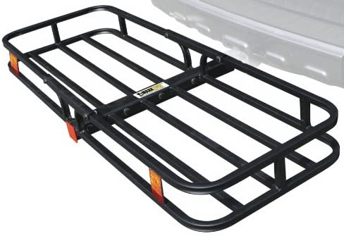 "MaxxHaul 70107 Hitch Mount Compact Cargo Carrier - 53"" x 19-1/2"" - 500 lb. Maximum Capacity for two"" Hitch Receiver"