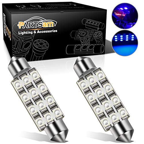 Camaro Dome Light - Partsam 42mm Festoon LED Light Bulbs Car LED Interior Lights Dome Map Lights Bulbs 211-2 578 569 Festoon LED Bulb - Blue (2 Pcs)
