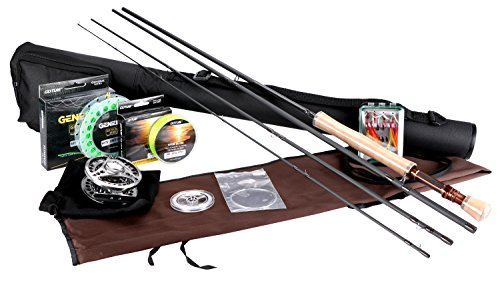 Goture Fly Fishing Rod and Reel Combos Fit Saltwater Freshwater 5/6 and 7/8 for Beginner and Angler with Fly Line Fly Lures Full Kit with Rod Case(Honor Series7/8)