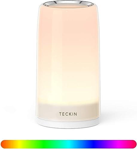 Amazon.com: Lámpara de mesa LED táctil, lámpara de noche ...