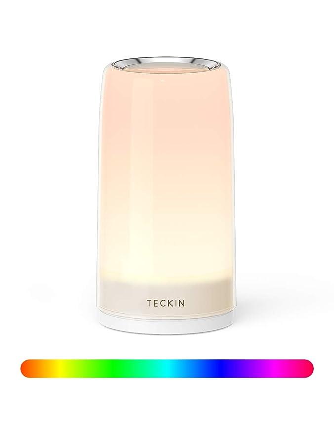 Teckin - Lámpara de mesa LED táctil, regulable, con función táctil ...