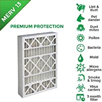 16x20x4 MERV 13 ( MPR 2200 ) AC Furnace 4 Inch Air Filters. 6 PACK