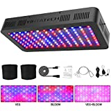 1200W LED Grow Light Full Spectrum, with 130pcs Dual Chips LEDs, Double Switch, Adjustable Rope Hanger, Grow Bags, Daisy Chain Plant Growing Lamp for Hydroponic Greenhouse Indoor Plants Veg and Flower