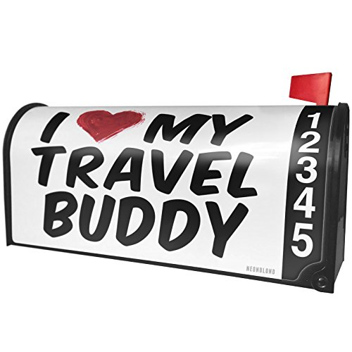 NEONBLOND I heart love my Travel Buddy Magnetic Mailbox Cover Custom Numbers by NEONBLOND