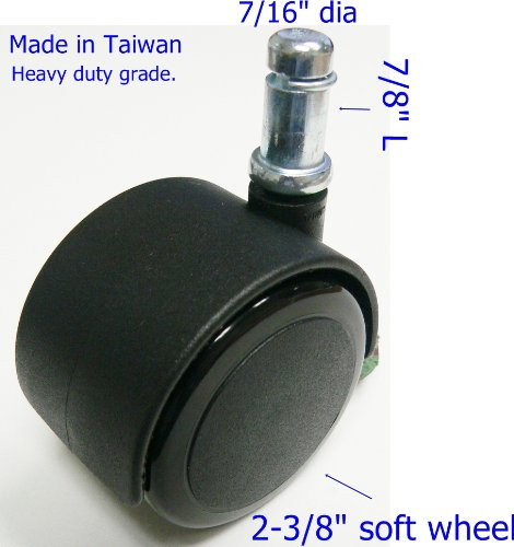 "Oajen caster socket furniture insert for metric M8-1.25 thread use with 1/"" OD"
