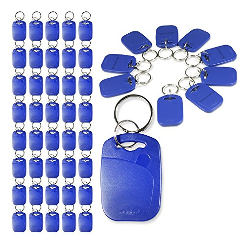 Actopus 50PCS 125kHz EM4100 RFID Proximity ID Entry Access Key Ring Tag Fob Color - Shopping Online Lf