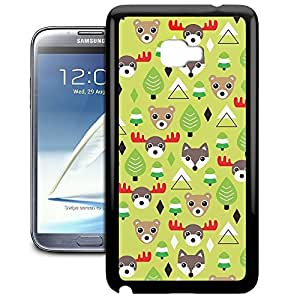 Bumper Phone Case For Samsung Galaxy Note 2 - Christmas Forest Animals Lightweight Cover