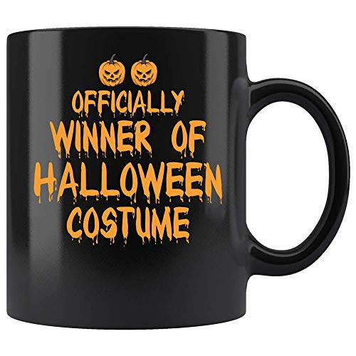 Coffee Mug Officially Winner Of Halloween Costume Funny Coffee Mug Ceramic (Black, 11 OZ)]()