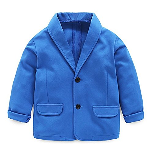 Little Kids Boys Girls Casual Fashion Blazers Jackets Coat Suit Outerwear 2-3 Years Blue -