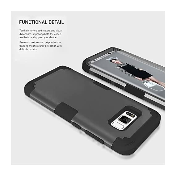 Samsung Galaxy S8 Case, VPR 3 in 1 Hybrid Cover Hard PC Soft Silicone Interior Rubber Scratch Heavy Duty High Impact Shock Absorbing Protective Defender Case for Galaxy S8 2017 5 Only Fit For Samsung Galaxy S8 2017. Reinforced Corner Increase Shock Absorbing when your Galaxy S8 2017 is Dropping on the ground. Rubberized Polycarbonate Armor outer hard case plus Silicone Inner layer cushions and shields your phone from damage. Specifically design Protects the core openings of the phone, including volume controls, power button, and headphone jack.