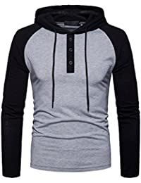 Men's Hooded Shirts Casual Long Sleeve T Shirt Hoodies