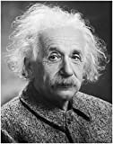 ArtDash® Photo Art Print by ALBERT EINSTEIN Black and White Photograph (8''×10'' print)