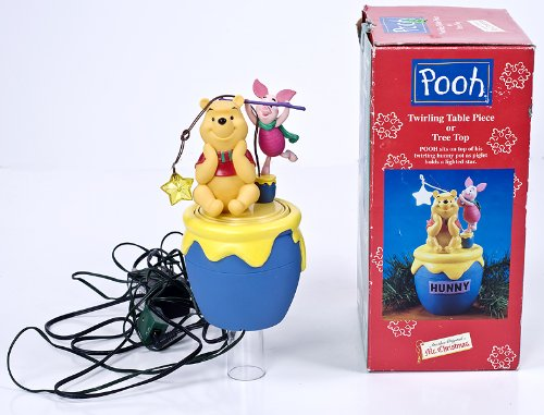 Mr Christms Pooh Twirling Table Piece/tree Topper