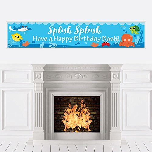 Big Dot of Happiness Under The Sea Critters - Birthday Party Decorations Party Banner ()