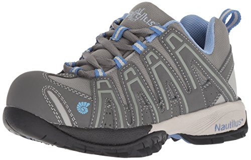 (Nautilus 1391 Women's ESD Comp Safety Toe No Exposed Metal Athletic Shoe,Grey,8.5 M US)