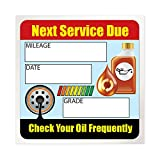 """Oil Change Stickers/Service Reminders - 100 Stickers - Full Color - Removable Adhesive - 2"""" x 2"""""""