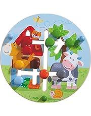 HABA 301696 - motorisch bord boerderijwereld | houten speelgoed vanaf 12 maanden | Grappig schuifplezier met kleurrijk boerderijmotief