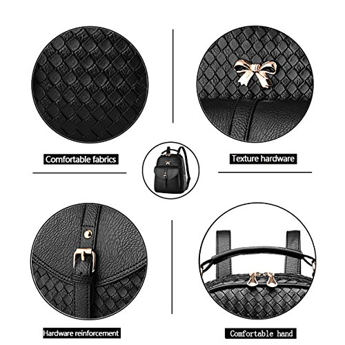 Shoulder Women's Women's Handbag Wallets Handbag Weave Tisdaini Bag Woolen Business Messenger Black Fashion Women's Handbag xHBBtqp0wv