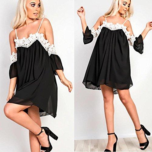 Aribelly Femmes Dentelle Épaule Mini-robe Casual