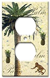 Art Plates - Palm Tree Switch Plate - Outlet Cover