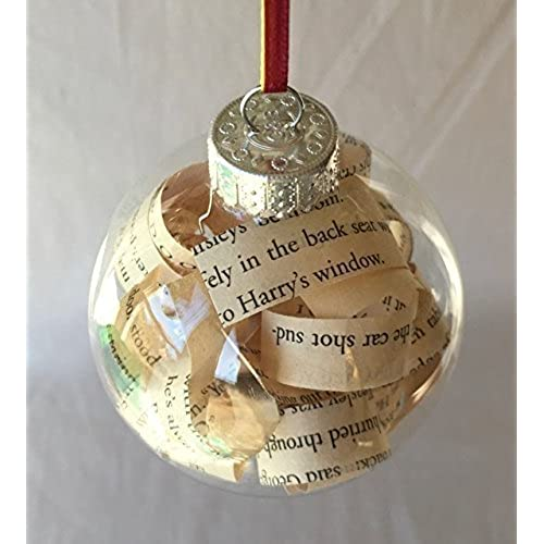 Harry Potter Book Glass Christmas Tree Ornament - Nerdy Christmas Ornaments: Amazon.com