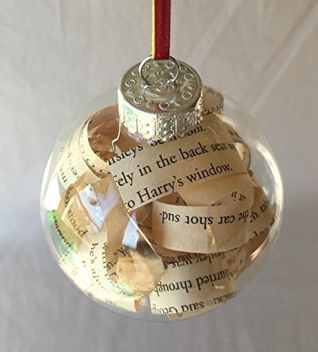 Harry Potter Book Glass Christmas Tree (Origami Christmas Tree Ornaments)