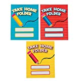Fun Express - Take Home Pocket Folders - Educational - Learning Aids - Misc Learning Aids - 12 Pieces