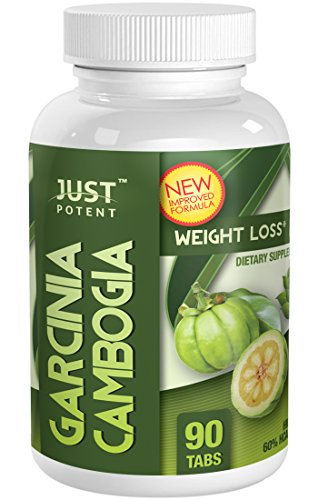 Just Potent High Grade Garcinia Cambogia Extract  3000mg Per Serving  90 Tablets  Appetite Suppression and Weight Loss  Quality Tested Quality Assured