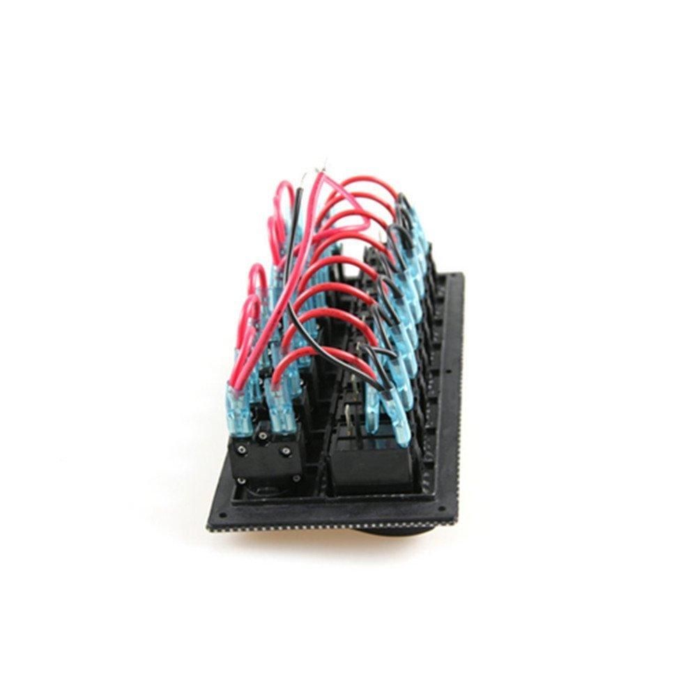 Interruttore a bilanciere pannello con interruttore di circuito per marine pannello interruttore//interruttore a 8/vie con incisione al laser impermeabile pane