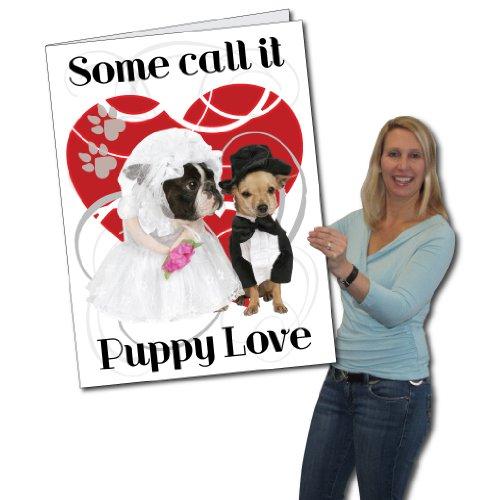 2' x 3' Giant Card, Valentines Day, Puppy Love - W/ Envelope
