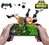Mobile Game Controller and Gamepad, Sensitive Shoot and Aim Trigger Fire Button, Gamepad for Fortnite/PUGB / Rules of Survival, Mobile Gaming Joysticks for Android IOS
